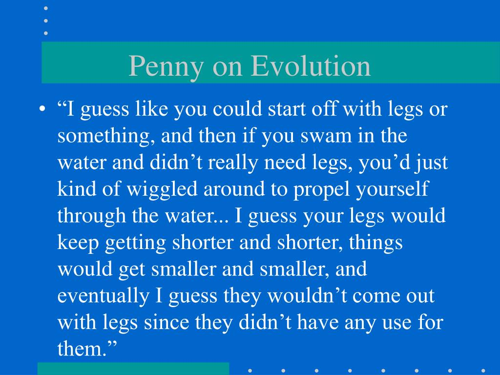 Penny on Evolution