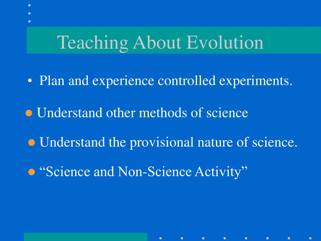 Teaching About Evolution