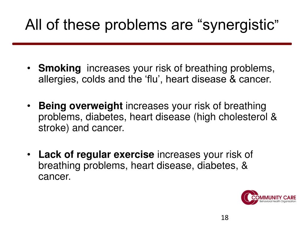 "All of these problems are ""synergistic"