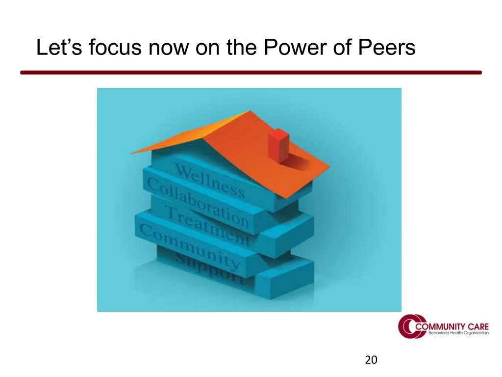 Let's focus now on the Power of Peers