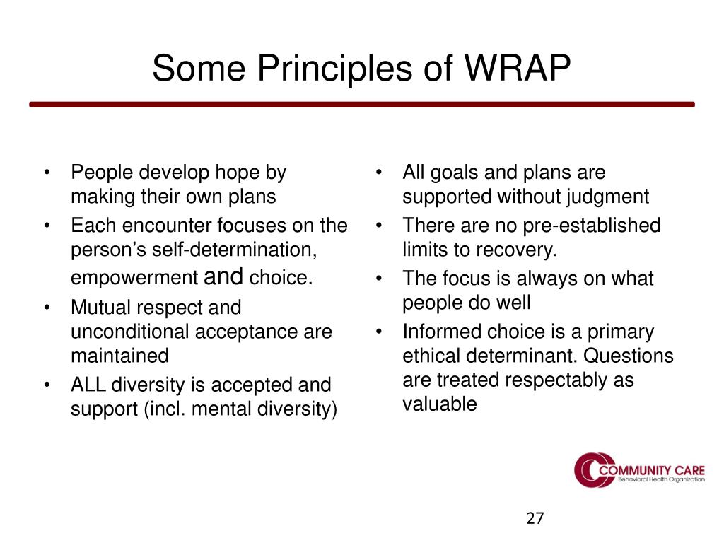 Some Principles of WRAP