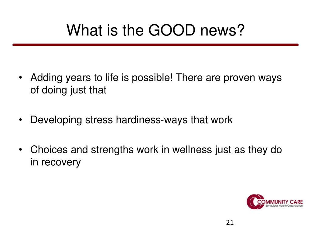 What is the GOOD news?
