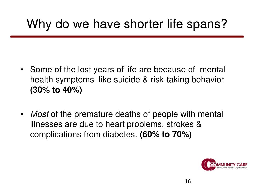 Why do we have shorter life spans?