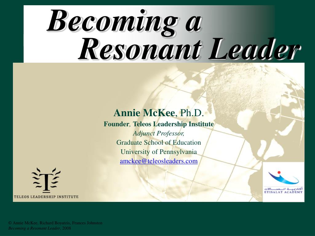 becoming a resonant leader l.