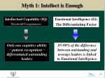 myth 1 intellect is enough