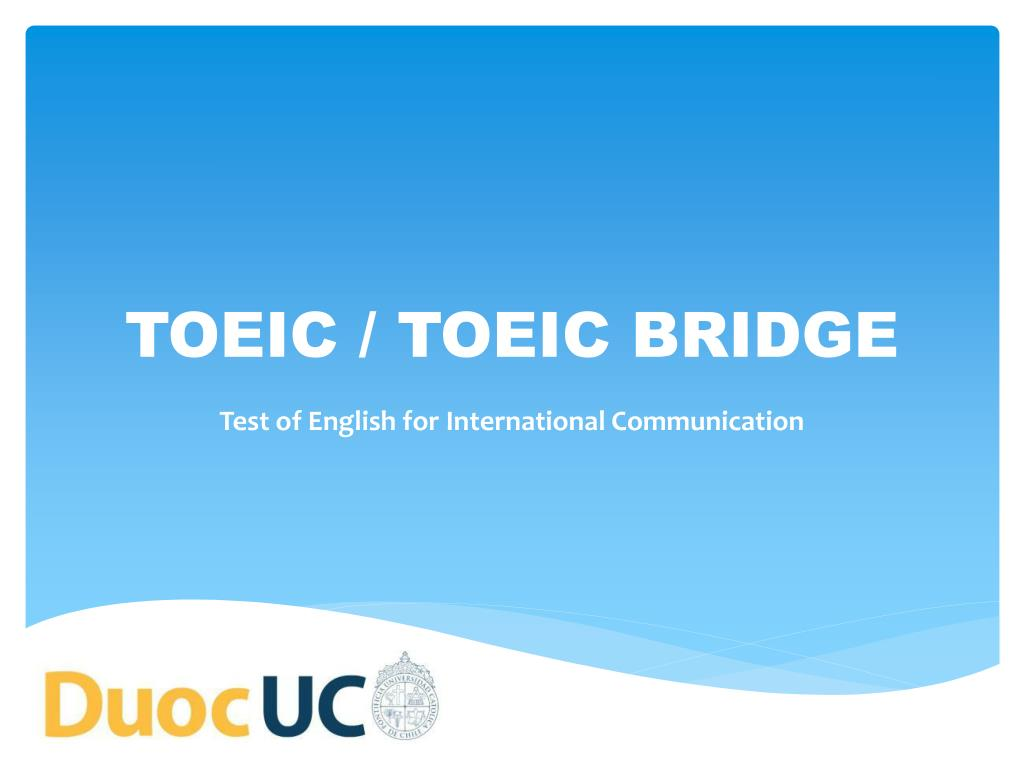 toeic toeic bridge l.
