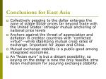 conclusions for east asia