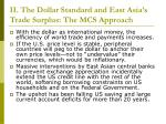 ii the dollar standard and east asia s trade surplus the mcs approach