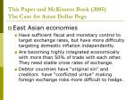 this paper and mckinnon book 2005 the case for asian dollar pegs