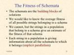 the fitness of schemata