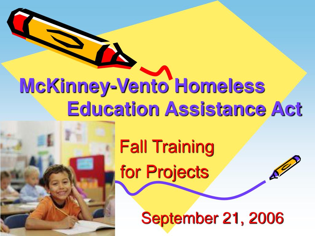 mckinney vento homeless education assistance act l.