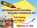 mckinney vento homeless education assistance act