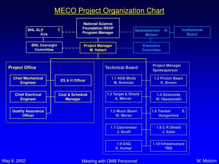 MECO Project Organization Chart