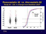 rosuvastatin 40 vs atorvastatin 80 study 65 ldl change from baseline locf