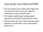 c ase study lync client and mbt