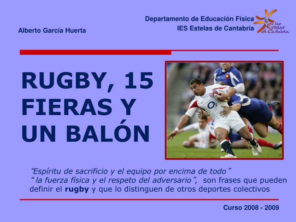 rugby 15 fieras y un bal n l.