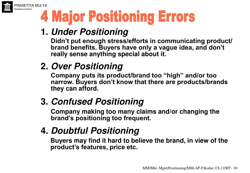4 Major Positioning Errors