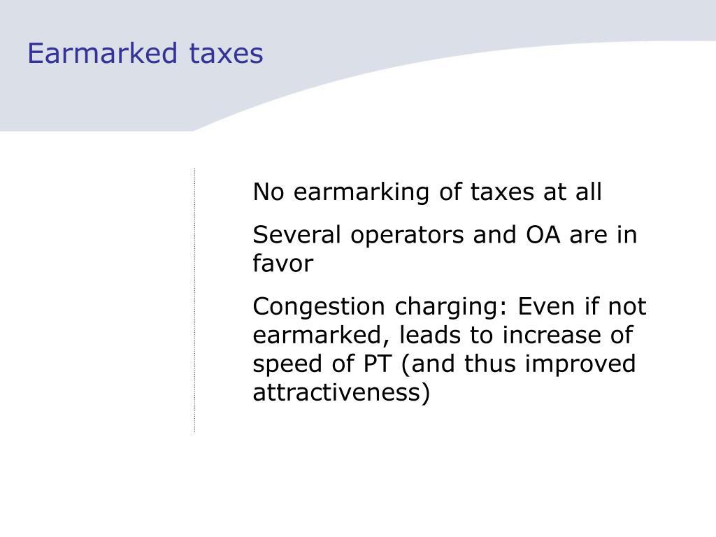 Earmarked taxes
