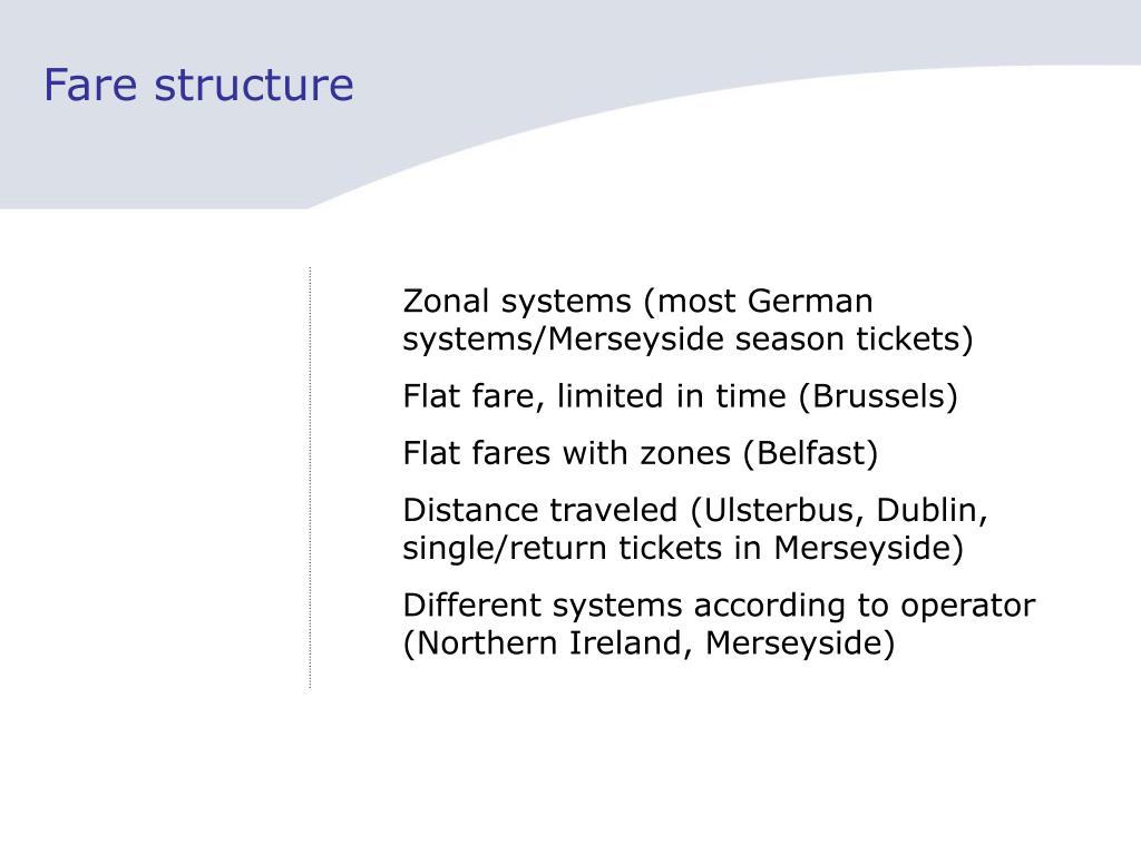 Fare structure