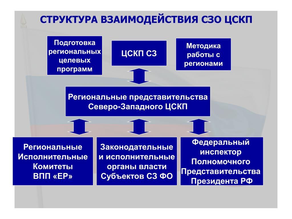 Структура взаимодействия СЗО ЦСКП