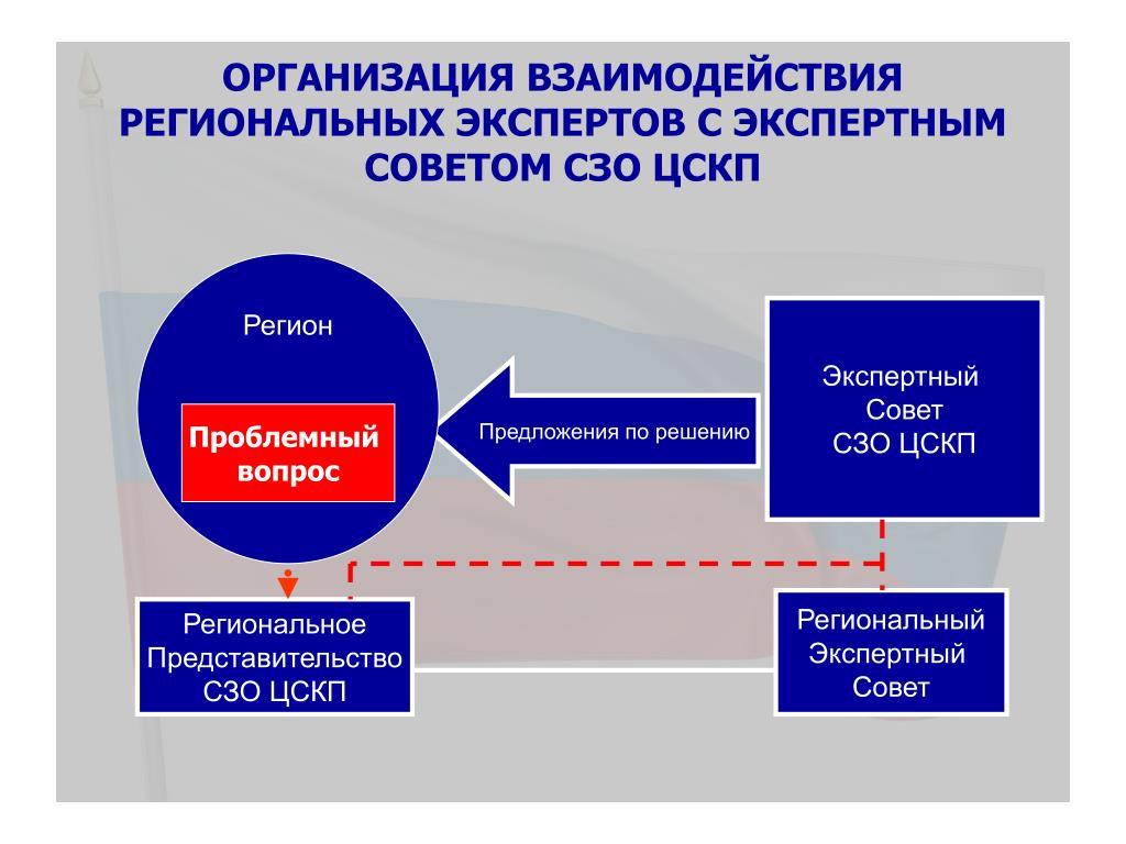 Организация взаимодействия региональных экспертов с Экспертным Советом СЗО ЦСКП