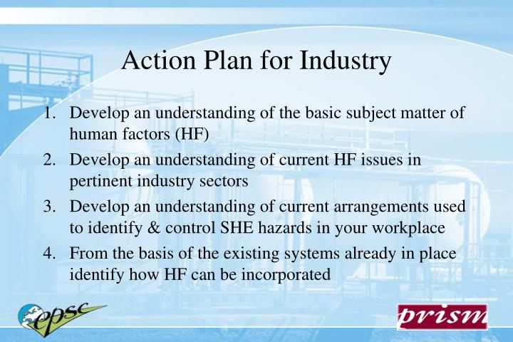 Action Plan for Industry