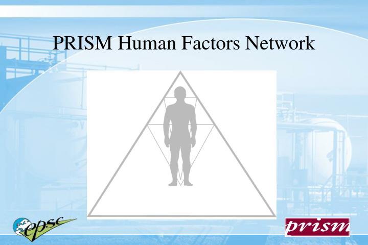 Prism human factors network