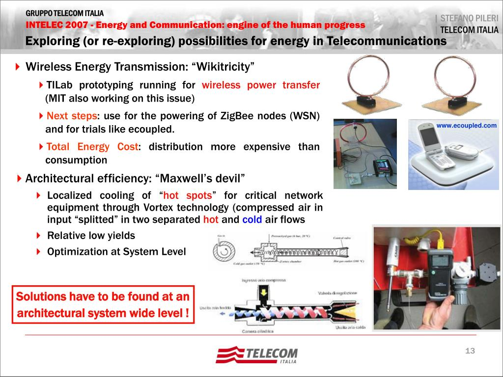 Exploring (or re-exploring) possibilities for energy in Telecommunications
