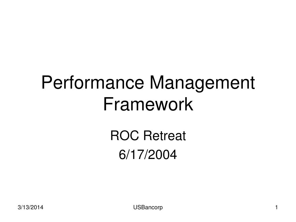 performance management framework l.