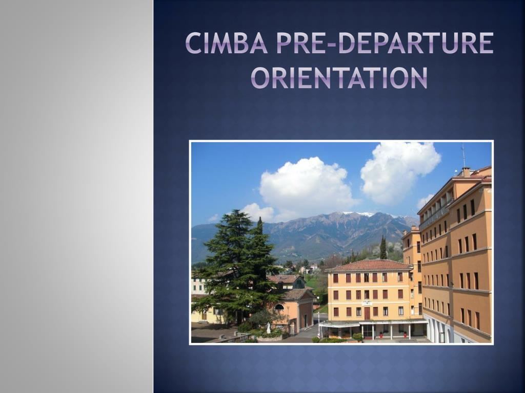 cimba pre departure orientation l.