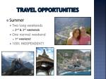 travel opportunities