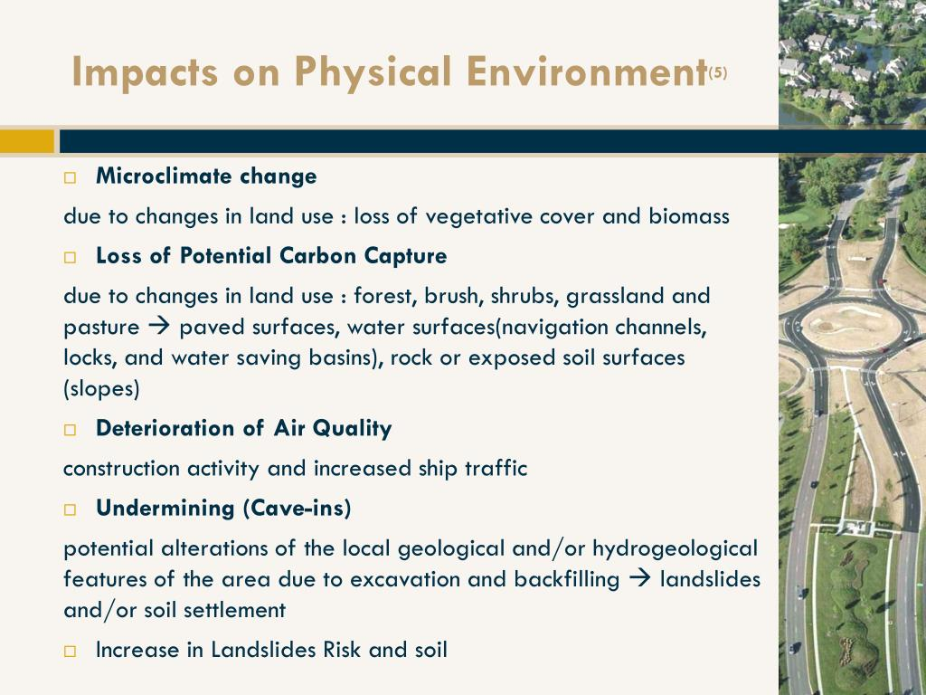 Impacts on Physical Environment