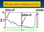 bis goes down during recovery