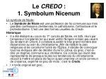 le credo 1 symbolum nicenum
