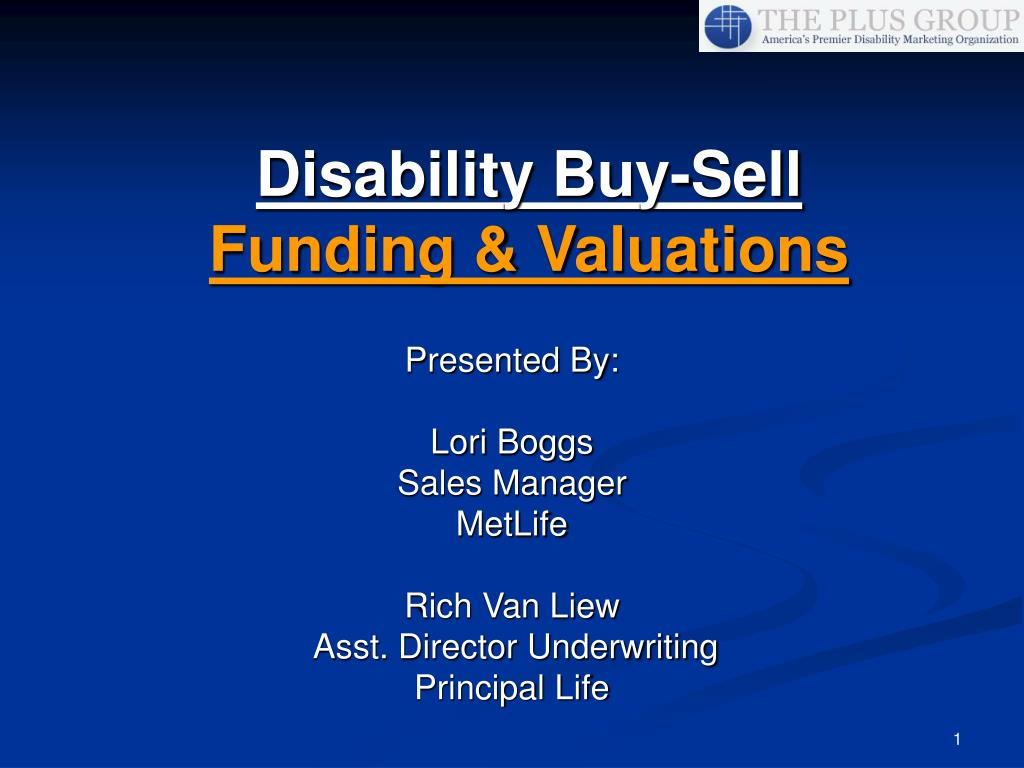 disability buy sell funding valuations l.