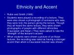 ethnicity and accent
