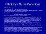 ethnicity some definitions