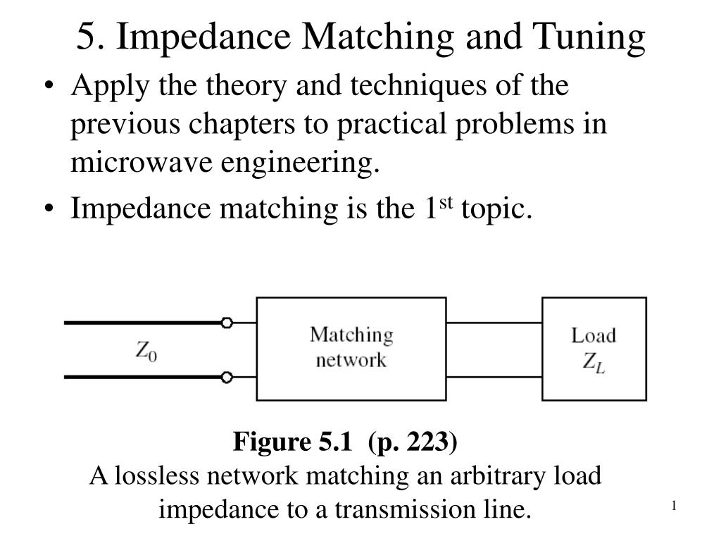 PPT - 5  Impedance Matching and Tuning PowerPoint