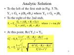analytic solution25