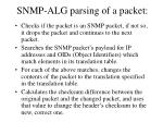 snmp alg parsing of a packet