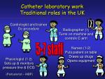 catheter laboratory work traditional roles in the uk