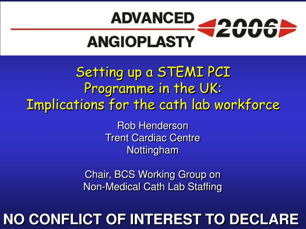 setting up a stemi pci programme in the uk implications for the cath lab workforce l.