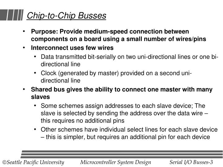 Chip to chip busses