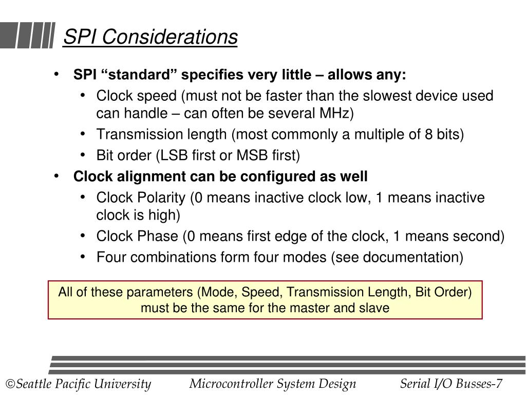 SPI Considerations