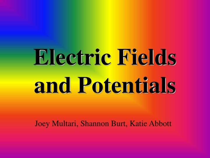 electric fields and potentials n.