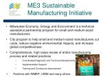 me3 sustainable manufacturing initiative
