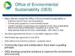 office of environmental sustainability oes