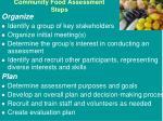 community food assessment steps