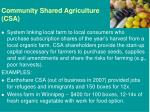 community shared agriculture csa