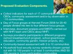 proposed evaluation components
